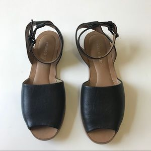 Franco Sarto Leather Sandals Ankle strap